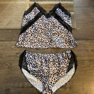 Victorias Secret satin and lace Cami and short set